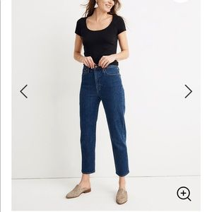 Madewell tapered jean in belclaire wash